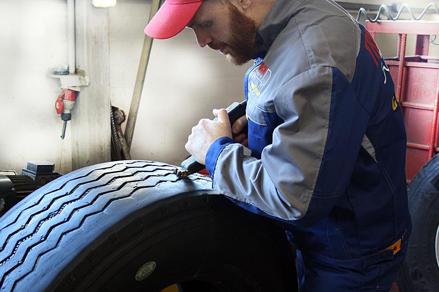восстановление протектора грузовой шины